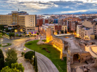Испания. Каталония. Коста-Дорада. Таррагона. Scenic view of Tarragona with Roman Walls - Spain, Catalonia. Фото Leonid_Andronov - Depositphotos