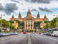 Испания. Каталония. Барселона. Facade of National Art Museum of Catalonia, Barcelona, Catalonia, Spain. Фото marcorubino - Depositphotos