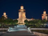 Иордания. Амман. Мечеть Аль-Хуссейна. Photo of the King Hussein Mosque at the blue hour time in Amman. Фото lhboucault - Depositphotos