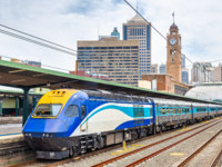 Express train to Canberra at Sydney Central Station - Australia, New South Wales. Фото Leonid_Andronov - Depositphotos