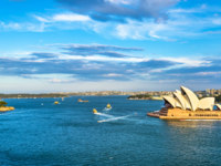 Sydney Harbour as seen from the Harbour Bridge - Australia, New South Wales. Фото Leonid_Andronov - Depositphotos