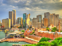 Skyline of Sydney central business district at Circular Quay - Australia. Фото Leonid_Andronov - Depositphotos