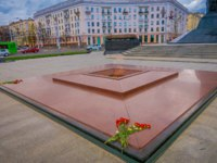 Белоруссия. Город-герой Минск. Eternal flame in monument of victory of Soviet army soldiers in great Patriotic War. Victory Square-Symbol Belarus. Фото pxhidalgo-Dep