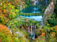 Клуб путешествий Павла Аксенова. Хорватия. Waterfalls in the Plitvice Lakes National Park in Croatia. Фото rognar - Depositphotos