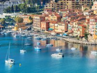 Лазурный берег Франции. Вильфранш. Luxury resort of Villefranche sur Mer. French Riviera, Cote d'Azur, France. Фото Bareta - Depositphotos
