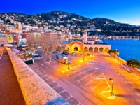 Лазурный берег Франции. Вильфранш. Villefranche sur Mer idyllic French riviera town evening view, Alpes-Maritimes region of France. Фото xbrchx - Depositphotos