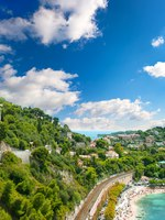 Лазурный берег Франции. Вильфранш. View of luxury resort and bay of Cote d'Azur near Nice. french riviera. Фото Liliana Fichter - Depositphotos