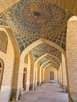 Иран. Шираз. Мечеть Насир оль-Мольк. Arcade hall passages of the Nasir al-Mulk Mosque is a mosque located in Goad-e-Araban place in Shiraz. Фото dbajurin-Deposit