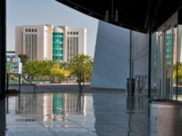 Израиль. Беэр-Шева. View of the courthouse from the entrance to the concert hall. Beer Sheva. Israel. Фото makarenko - Depositphotos