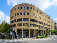 Израиль. Хайфа. Scene of Masaryk square in Hadar HaCarmel district, with local businesses, locals and visitors, in Haifa, Israel. Фото RnDmS-Depositphotos