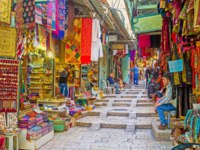 Израиль. ИерAll the colors, tastes and flavours of the Middle East tourists can find in Arab Bazaar on King David's street in Jerusalem. Фото efesenko-Depositphotos