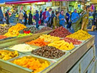 Израиль. Иерусалим. The stall in Mahane Yehuda market offers different dried fruits on each taste in Jerusalem. Фото efesenko - Depositphotos