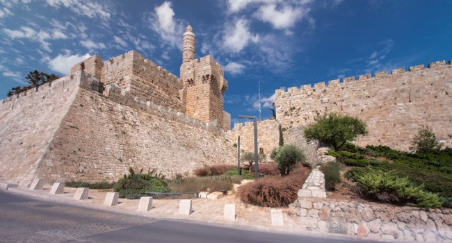 Израиль. Иерусалим. Башня Давида. Tower of David timelapse hyperlapse is so named because Byzantine Christians believed the site. Фото neiezhmakov-Deposit