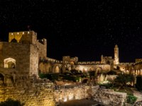 Израиль. Иерусалим. Башня Давида. View of the Citadel and the Tower of David in Jerusalem at night. Фото alexeys - Depositphotos