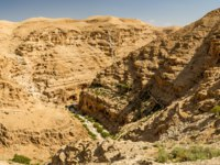 Израиль. Монастырь святого Георгия. Canyon near the monastery of Saint George of Choziba in Judaean Desert in the Holy Land, Israel. Фото alefbet-Deposit