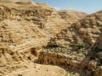 Израиль. Canyon near the monastery of Saint George of Choziba in Judaean Desert in the Holy Land, Israel. Фото alefbet-Depositphotos