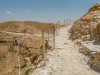 Израиль. Монастырь святого Георгия. Trail near the monastery of Saint George of Choziba in Judaean Desert in the Holy Land, Israel. Фото alefbet-Deposit