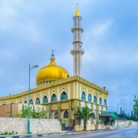 The beautiful Makam Al-Nabi Sain Mosque is a fine example of islamic architecture of XXI century, Nazareth, Israel. Фото efesenko-Depositphotos