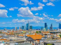 Клуб путешествий Павла Аксенова. Италия. Панорама Милана. Panorama of the city of Milan from a building roof. Фото fotosaga - Depositphotos