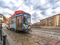 Италия. Трамвай на улицах Милана. Trams at the cuty streets. Milan, Lombardia, Italy. Фото yorgy67 - Depositphotos