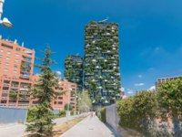 Bosco Verticale or Vertical Forest timelapse hyperlapse. It is a pair of two residential towers in the district of Porta Nuova, Milan. Фото neiezhmakov - Depositphotos
