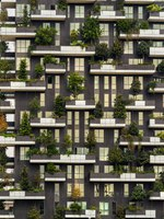 Италия. Архитектура Милана. Bosco Verticale (Vertical Forest) iconic residential towers in Milan, Italy. Фото masterlu - Depositphotos