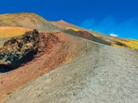 Италия. Сицилия. Катания. View of colorful lava hills on the top of The Mount Etna, Sicily, Italy. Фото RS.photography - Depositphotos