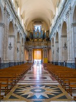 Италия. Сицилия. Катания. Main nave in the Duomo of Saint Agatha in Catania. Sicily, southern Italy. Фото e55evu - Depositphotos