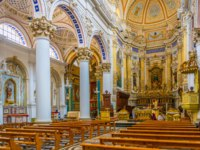 Клуб путешествий Павла Аксенова. Италия. Сицилия. Модика. Interior of the chiesa di San Pietro in Modica, Sicily, Italy. Фото Dudlajzov - Depositphotos