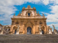 Клуб путешествий Павла Аксенова. Италия. Сицилия. Модика. Cathedral of San Pietro (Saint Peter) in Modica. Sicily, southern Italy. Фото e55evu-Depositphotos