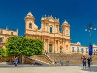 Италия. Сицилия. Ното. View of The Noto Cathedral, baroque architectural style. Фото RS.photography - Depositphotos