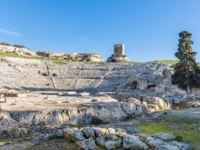 Италия. Сицилия. Сиракузы. Greek Theatre of Syracuse Sicily. Фото micheleponzio - Depositphotos