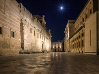 Италия. Сицилия. Сиракузы. Syracuse, cathedral square in the night. Фото micheleponzio - Depositphotos