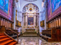 Италия. Сицилия. Сиракузы. Interior of the cathedral in Syracuse, Sicily, Italy. Фото Dudlajzov - Depositphotos