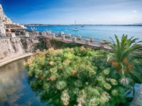Италия. Сицилия. Сиракузы. Aretusa Fountain in Ortigia, Syracuse, Sicily, Italy. Фото pitrs10 - Depositphotos
