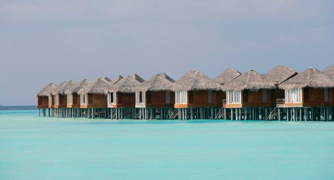 Мальдивы. Anantara Dhigu Resort & Spa, Maldives. Over Water Villas exterior