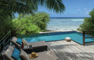 Мальдивы. Shangri-La's Villingili Resort & Spa, Maldives. Pool Villa. Pool Villa Deck