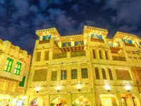 Катар. Доха. Рынок Сук-Вакиф. Souq Waqif night. Doha. Qatar. Фото bennymarty - Depositphotos