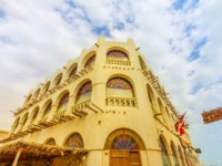 Катар. Доха. Historic building of Bird Souq near Souq Waqif, the old market and popular tourist attraction in Doha center. Фото bennymarty - Depositphotos
