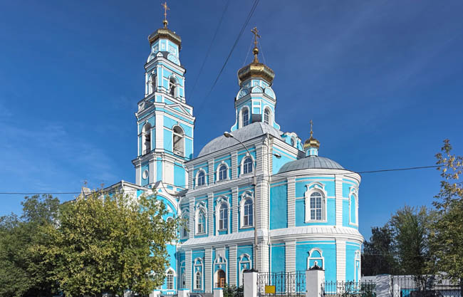 Екатеринбург. Храм Вознесения Господня. Church of the Ascension of the Lord in the Russian Late Baroque style. Yekaterinburg. Фото markovskiy-Deposit