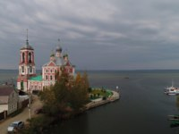 Переславль-Залесский. Church of the Forty Martyrs of Sebaste in Pereslavl Zalevsky, aerial view, Golden Ring of Russia. Фото 7433380@gmail.com - Depositphotos