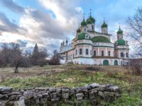 Goritsky Monastery of Dormition, it was based in the first half of the XIV century. Cathedral of the Dormition. Pereslavl-Zalessky, Russia. Фото mosprofs - Depositphotos