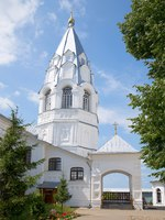 The bell tower of the old Church of the Annunciation in Nikitsky monastery. Nikitskaya Sloboda, Pereslavl-Zalessky, Russia. Фото sikaraha - Depositphotos