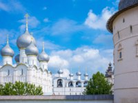Россия. Ростовский кремль. Успенский собор. Russia, Rostov, view of the domes of the Ascention Cathedral. Фото giuseppemasci.me.com - Depositphotos