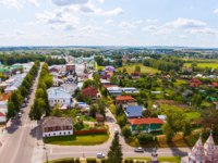 Золотое кольцо России. Суздаль. Unique view of the city of Suzdal from the most top point, the central street. Фото andrei-anpo - Depositphotos