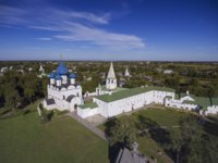 Золотое кольцо России. Суздаль. Aerial view on kremlin in the ancient town Suzdal, Golden ring, Russia. Фото Kokhanchikov - Depositphotos