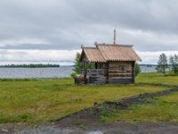 Россия. Карелия. Остров Кижи. Historical site dating from the 17th century on Kizhi island, Russia. Chapel of St. Peter and Paul. Фото borisb17-Depositphotos