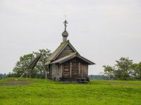 Россия. Карелия. Остров КWooden church on island Kizhi on lake Onega. UNESCO list of World Heritage sites and a Russian Cultural Heritage site. Фото Olivia-De