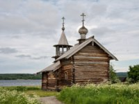 Клуб путешествий Павла Аксенова. Россия. Карелия. Остров Кижи. Old wooden church, The Dormition Chapel, Kizhi island, Karelia, Russia. Фото YuliaB-Deposit