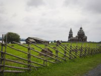 Россия. Карелия. Остров Кижи. Kizhi Pogost is a historical site on Kizhi island, located on Lake Onega in the Republic of Karelia. Фото Olivia-Depositphotos